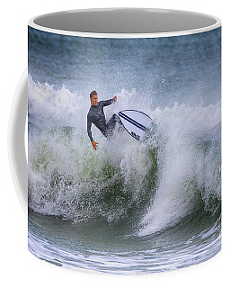 Coffee Mug featuring the photograph Ponce Surf 2017 by Deborah Benoit