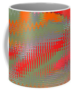 Coffee Mug featuring the digital art Pond Abstract - Summer Colors by Ben and Raisa Gertsberg
