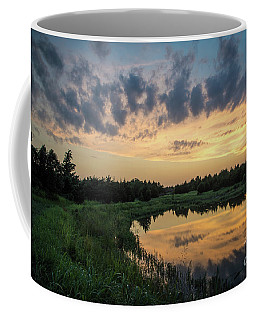 Pond And Sunset Coffee Mug