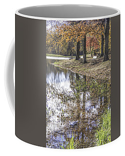 Pond Bench Ponderings Coffee Mug