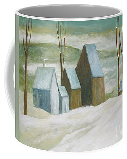 Pond Farm In Winter Coffee Mug