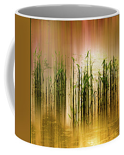 Coffee Mug featuring the photograph Pond Grass Abstract   by Jessica Jenney