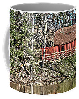 Coffee Mug featuring the photograph Pond Overlook by Greg Jackson