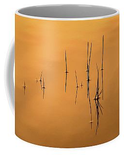 Pond Reeds In Reflected Sunrise Coffee Mug
