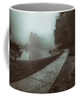 Pond Walk In Black And White Coffee Mug