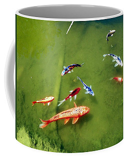 Pond With Koi Fish Coffee Mug by Joseph Frank Baraba