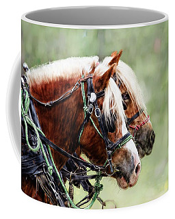 Ponies In Harness Coffee Mug