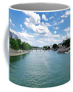 River Seine At Pont Du Carrousel Coffee Mug