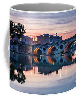 Coffee Mug featuring the photograph Pont Neuf In Toulouse At Sunset by Elena Elisseeva