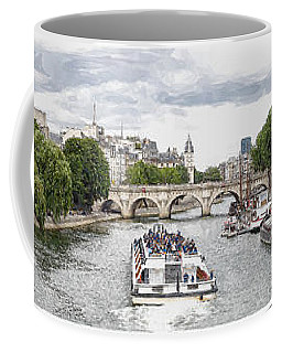 Pont Neuf Panorama Coffee Mug by Kai Saarto