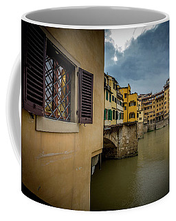Coffee Mug featuring the photograph Ponte Vecchio by Sonny Marcyan