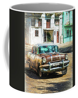 Coffee Mug featuring the photograph Pontiac Havana by Lou Novick