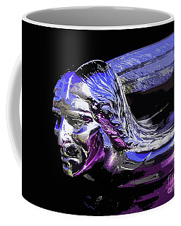 Coffee Mug featuring the photograph Pontiac Indian Head Hood Ornament by Patricia L Davidson