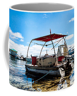 Coffee Mug featuring the photograph Pontoon by Lawrence Burry