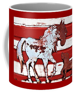 Coffee Mug featuring the photograph Pony And Pup by Larry Campbell