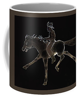 Coffee Mug featuring the photograph Pony Express by Larry Campbell