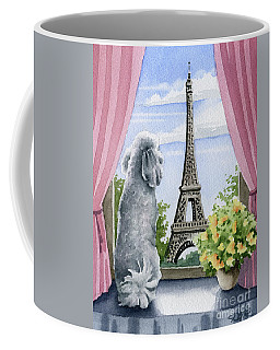 Poodle In Paris Coffee Mug