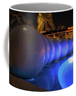 Pool Balls At Night Coffee Mug