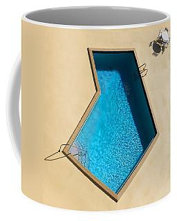 Coffee Mug featuring the photograph Pool Modern by Laura Fasulo
