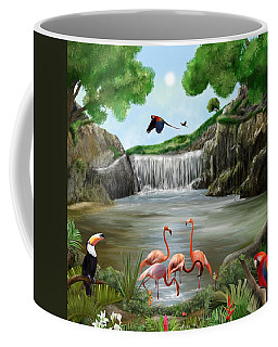Coffee Mug featuring the digital art Pool Party by Mark Taylor