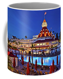 Poolside At The Hotel Del Coronado  Coffee Mug