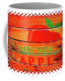 Coffee Mug featuring the photograph Pop Art Apple Crate by Ellen Barron O'Reilly