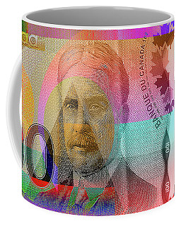 Pop-art Colorized New One Hundred Canadian Dollar Bill Coffee Mug