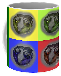 Pop Art Frog Face Coffee Mug by Carol F Austin