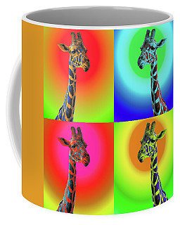 Coffee Mug featuring the photograph Pop Art Giraffe by James Sage