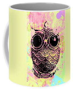Pop Art Owl Watercolour Coffee Mug
