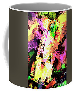 Pop Art Surf Cars And Painted Waves Coffee Mug