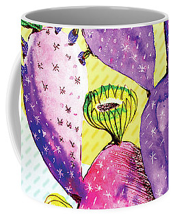 Pop Cacti - Purple Yellow Coffee Mug