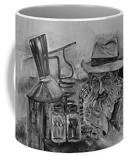 Popcorn Sutton - Black And White - Waiting On Shine Coffee Mug