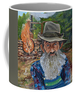Popcorn Sutton - Rocket Fuel -white Whiskey Coffee Mug