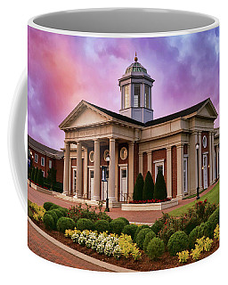 Coffee Mug featuring the photograph Pope Chapel Under Colorful Sky by Ola Allen
