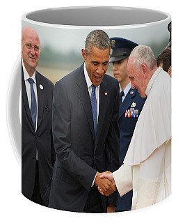Pope Francis And President Obama Coffee Mug