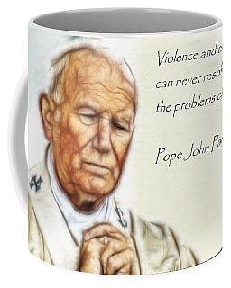 Pope John Paul II   Coffee Mug by Maciek Froncisz