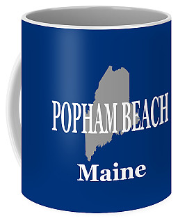 Coffee Mug featuring the photograph Popham Beach Maine State City And Town Pride  by Keith Webber Jr