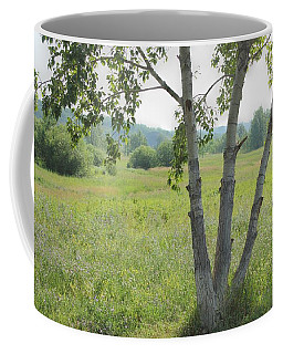Poplar Tree In Meadow Coffee Mug