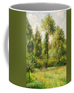 Coffee Mug featuring the painting Poplars - Eragny by Camille Pissaro
