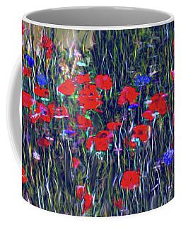 Poppies And Bachelor Buttons Coffee Mug