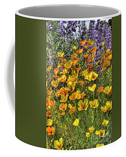 Poppies And Lupines Coffee Mug by Jim and Emily Bush