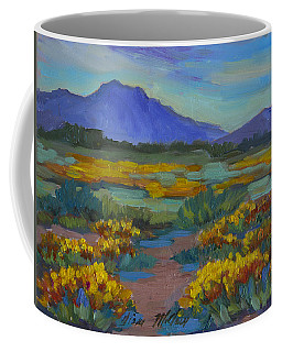 Coffee Mug featuring the painting Poppies At San Carlos by Diane McClary