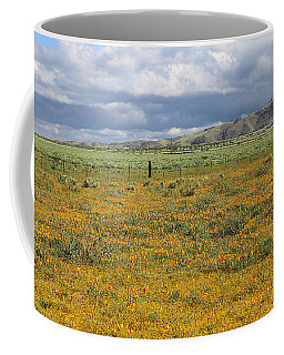 Coffee Mug featuring the photograph Poppies Field In Antelope Valley by Viktor Savchenko