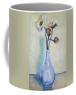 Poppies In A Blue Vase Coffee Mug