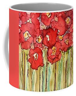 Poppies In Rain Coffee Mug