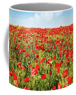 Coffee Mug featuring the photograph Poppies by Scott Kemper