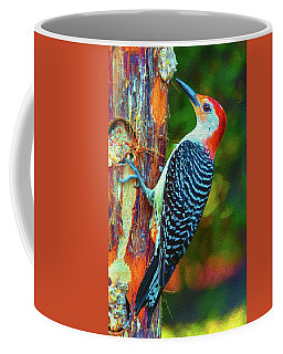 Popping Color Woodpecker Coffee Mug