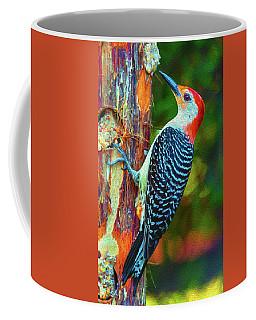 Popping Color Woodpecker Coffee Mug