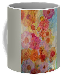 Coffee Mug featuring the painting Popping by Kim Nelson